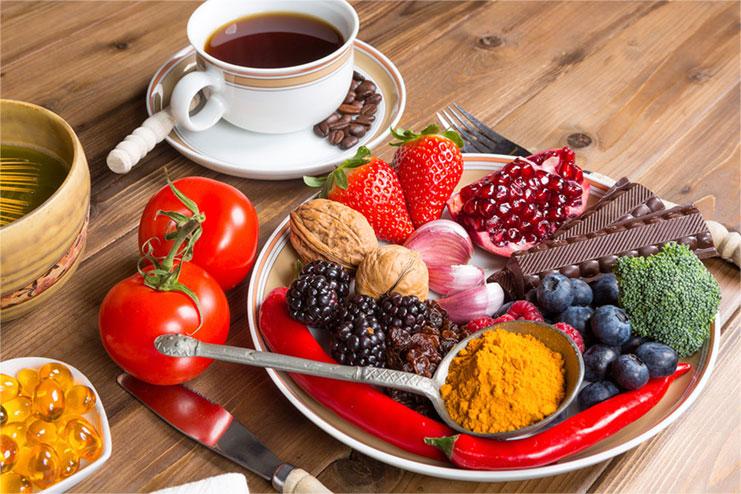 La importancia de llevar una dieta rica en antioxidantes
